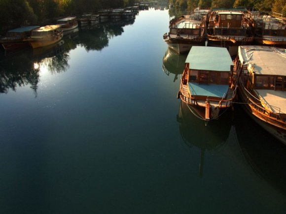Manavgat - Tour boats on Manavgat River