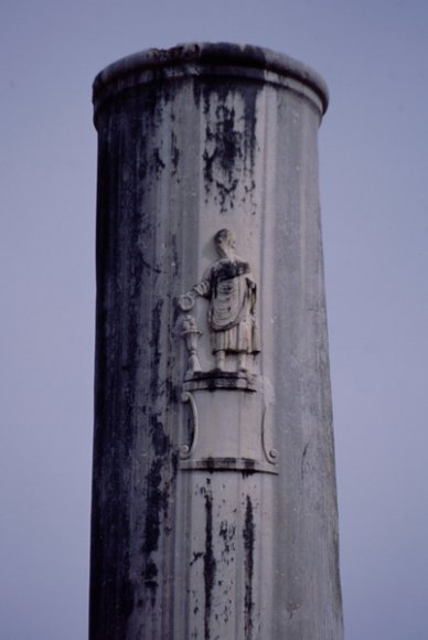 A relief on column