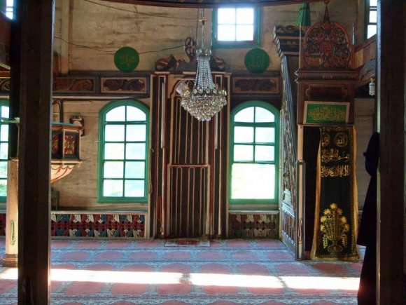 Inside Camili Mosque,  Macahel.
