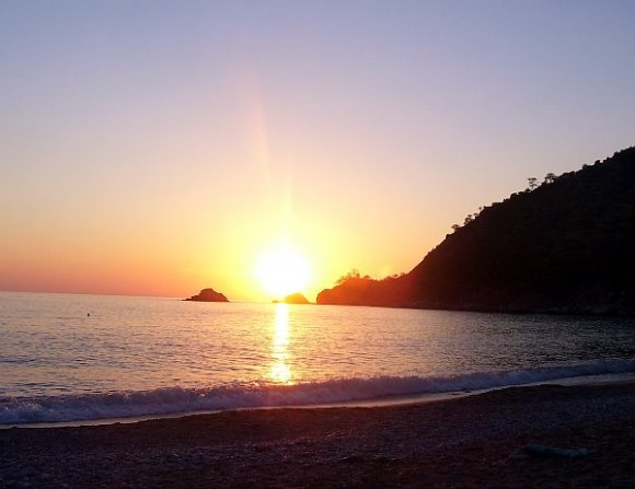 Sunset in Kabak Beach