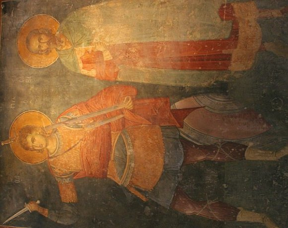 Istanbul - Kariye Museum / Chora Church - St. Prokopius and St. Sabah Stratelates