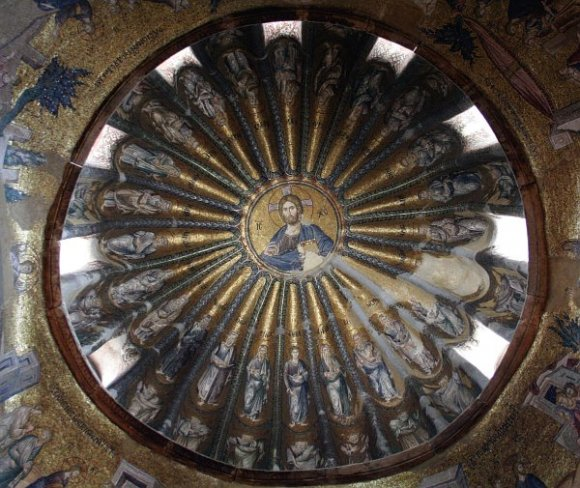 Istanbul - Kariye Museum / Chora Church - The south dome of the esonarthex