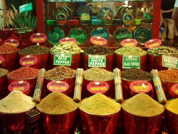 Istanbul - Spices in Egyptian Bazaar