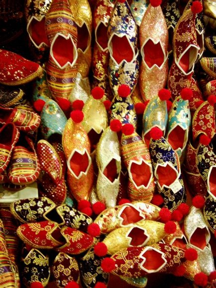 Istanbul - Egyptian Bazaar - Turkish Slippers