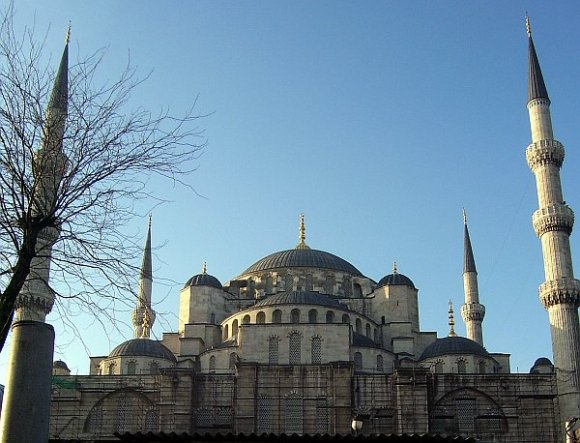 Outside view of Blue Mosque