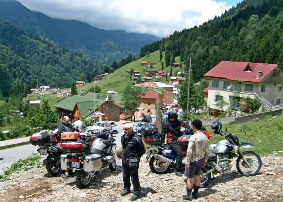 Motorcyles in the Ayder Plateau.